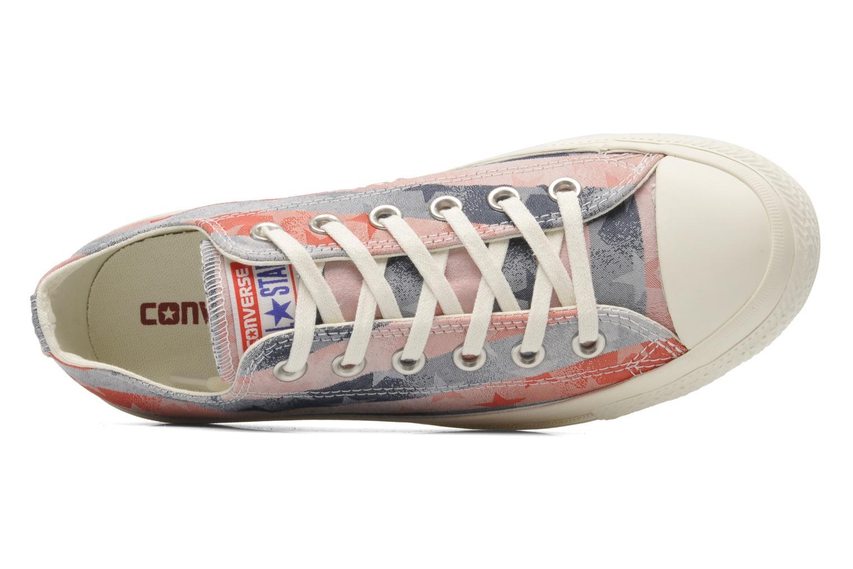 Sneaker Converse Chuck Taylor Bars & Stars Jaquard Ox W mehrfarbig ansicht von links