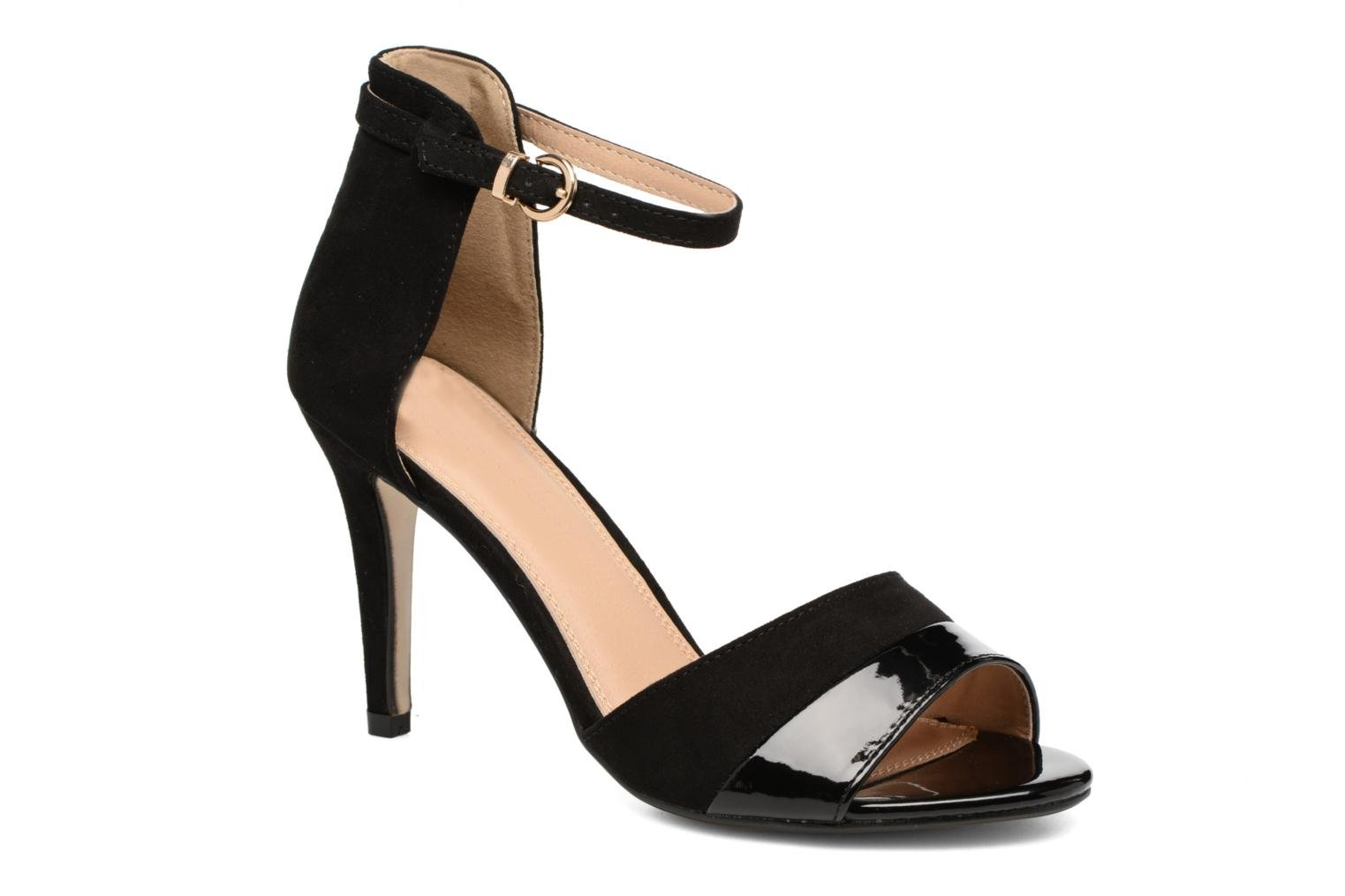 Sandals Buffalo Olivia Black detailed view/ Pair view