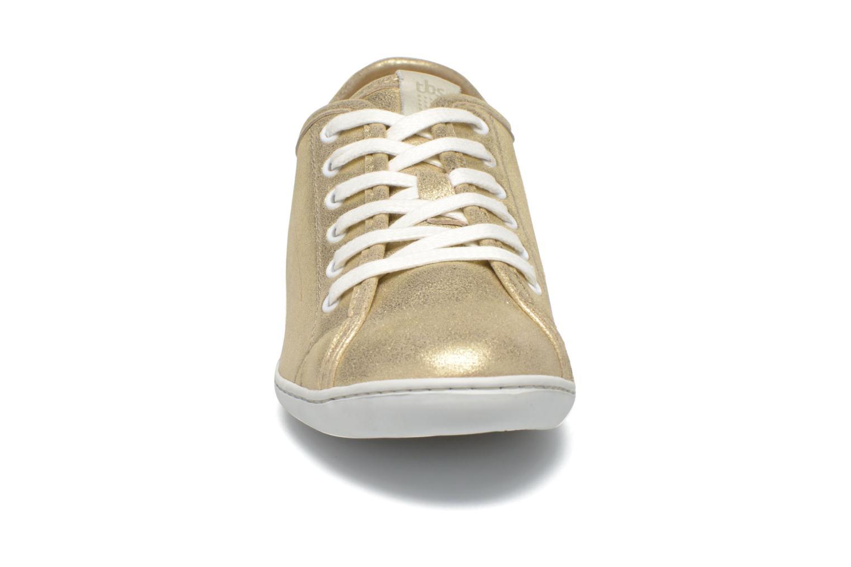 Baskets TBS Cerise Or et bronze vue portées chaussures