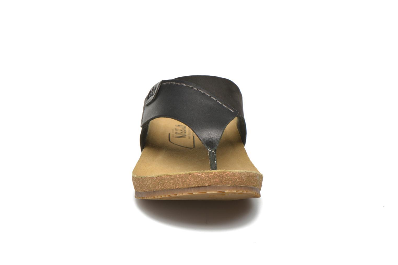 Tongs TBS Tilley Noir vue portées chaussures