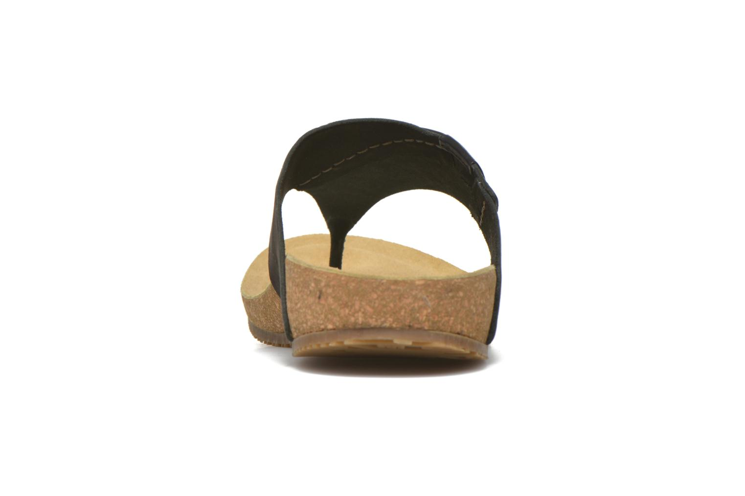Flip flops TBS Tilley Black view from the right