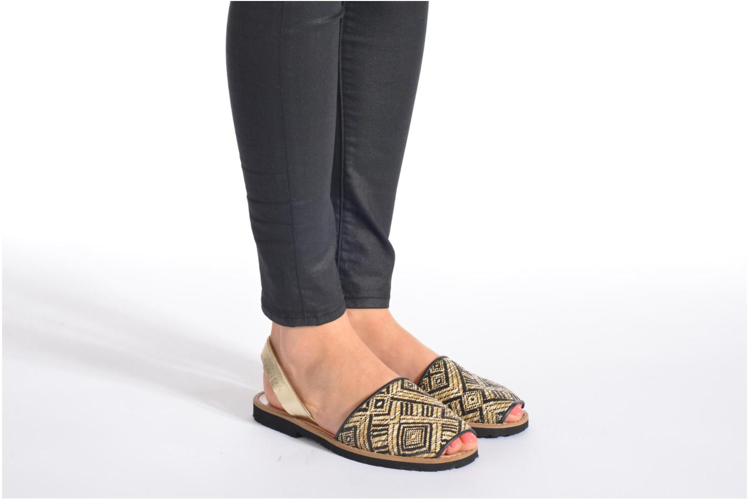 Sandals MINORQUINES Avarca Multicolor view from underneath / model view