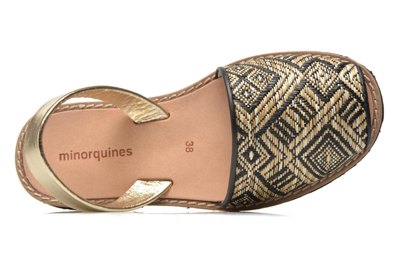 Sandalias MINORQUINES Avarca Multicolor vista lateral izquierda