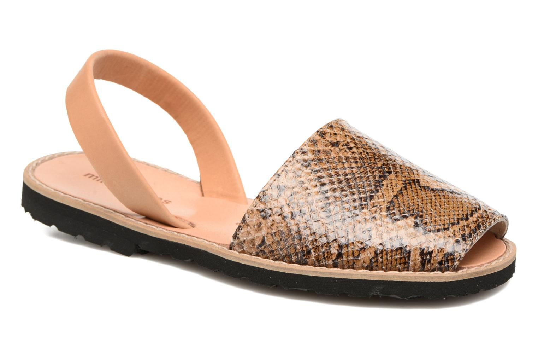Sandales et nu-pieds MINORQUINES Avarca Beige vue détail/paire