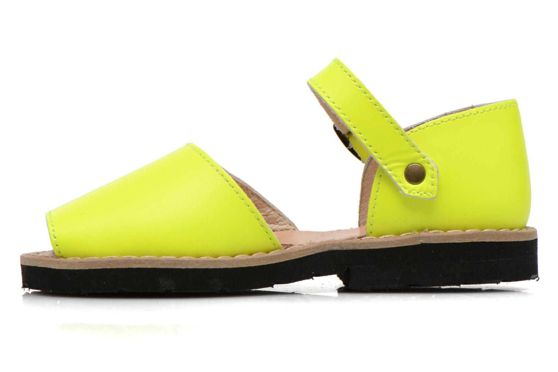 Sandales et nu-pieds MINORQUINES Frailera Jaune vue face