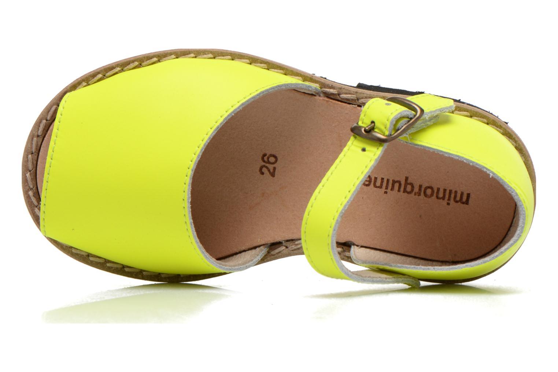 Sandalen MINORQUINES Frailera gelb ansicht von links