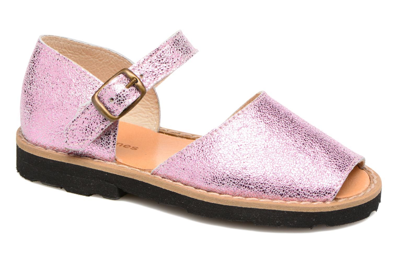 Sandales et nu-pieds MINORQUINES Frailera Rose vue détail/paire