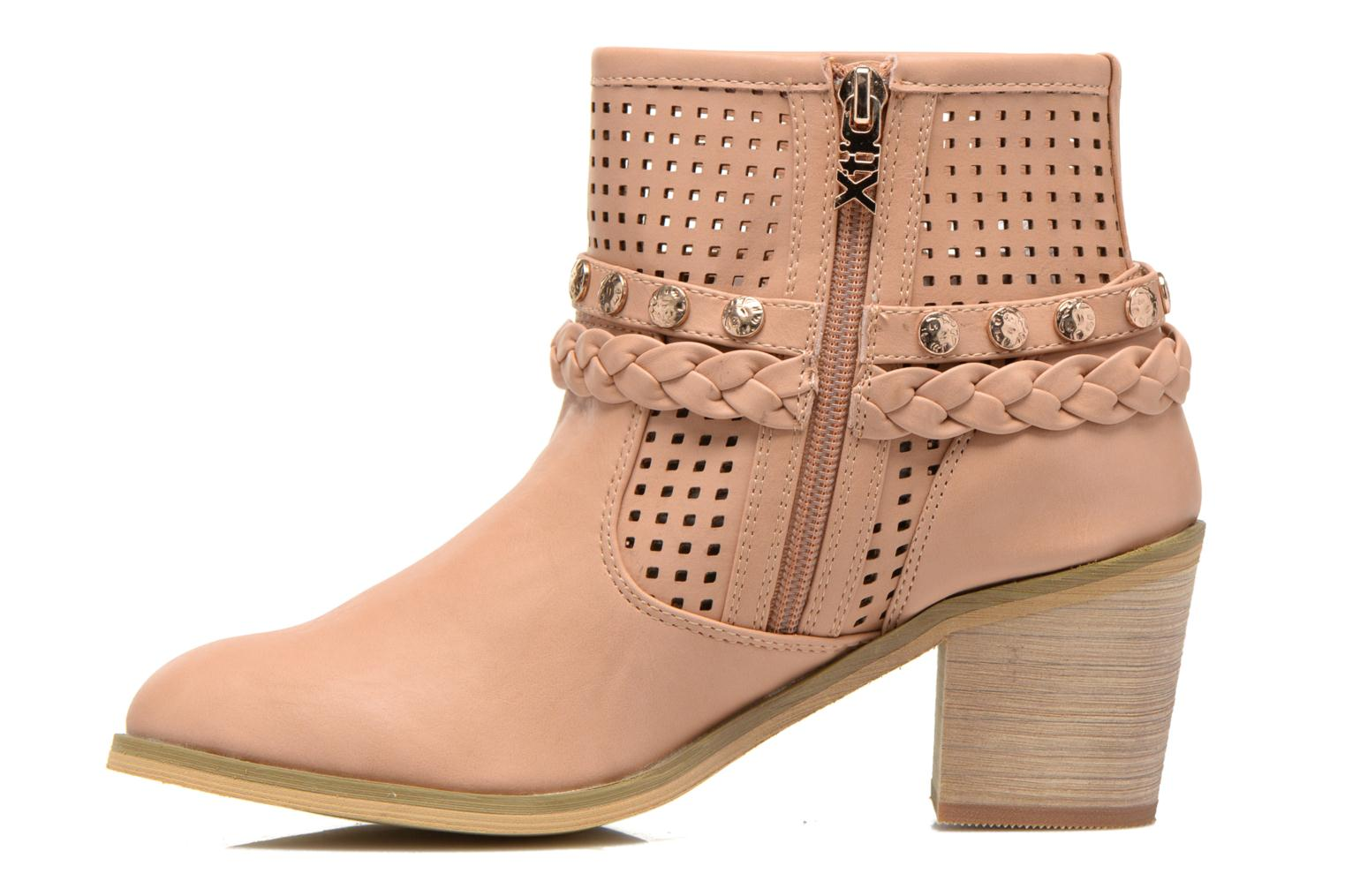 Ankle boots Xti Gala-27651 Pink front view