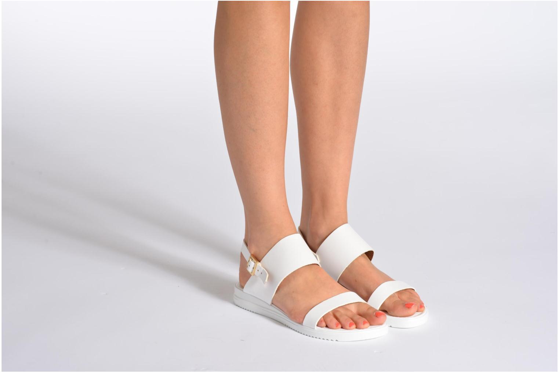 Sandales et nu-pieds Georgia Rose Jofou Blanc vue bas / vue portée sac
