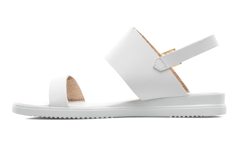 Sandales et nu-pieds Georgia Rose Jofou Blanc vue face