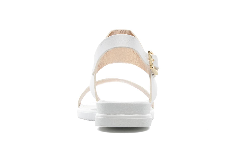 Sandales et nu-pieds Georgia Rose Jofou Blanc vue droite