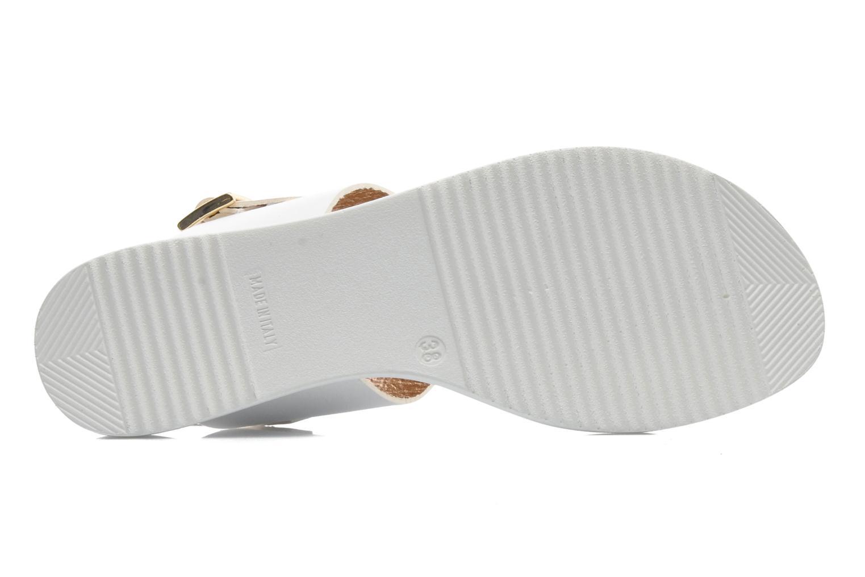 Sandales et nu-pieds Georgia Rose Jofou Blanc vue haut