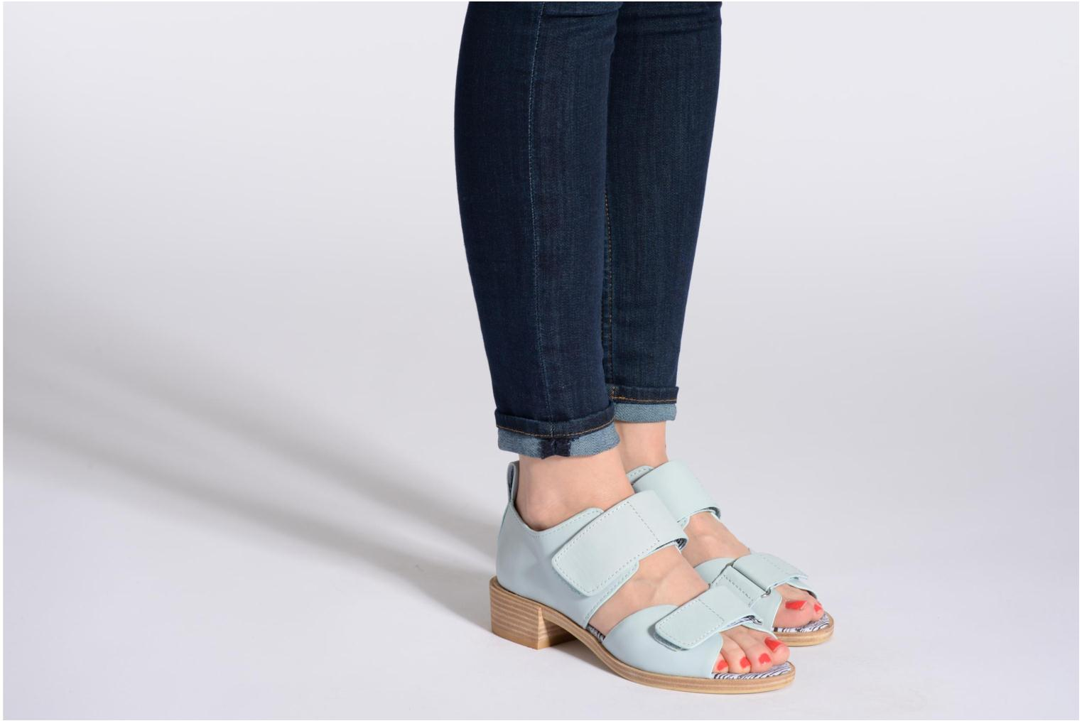 Sandals Shellys London Janko Blue view from underneath / model view