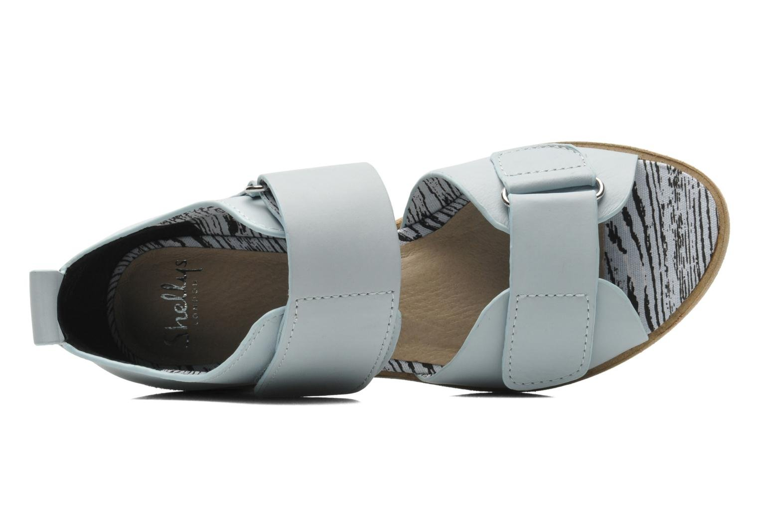 Sandals Shellys London Janko Blue view from the left