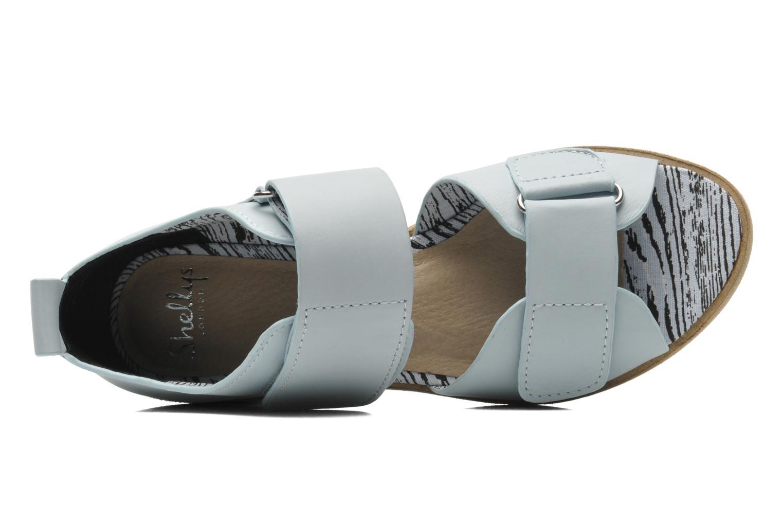 Sandales et nu-pieds Shellys London Janko Bleu vue gauche