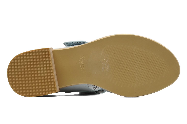 Sandales et nu-pieds Shellys London Janko Bleu vue haut