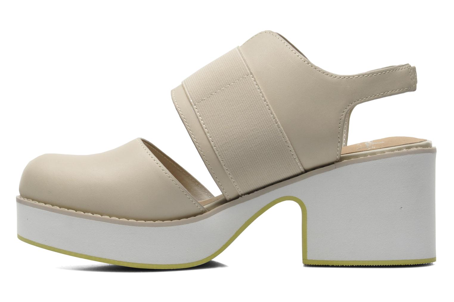 Sandals Shellys London Costain Beige front view