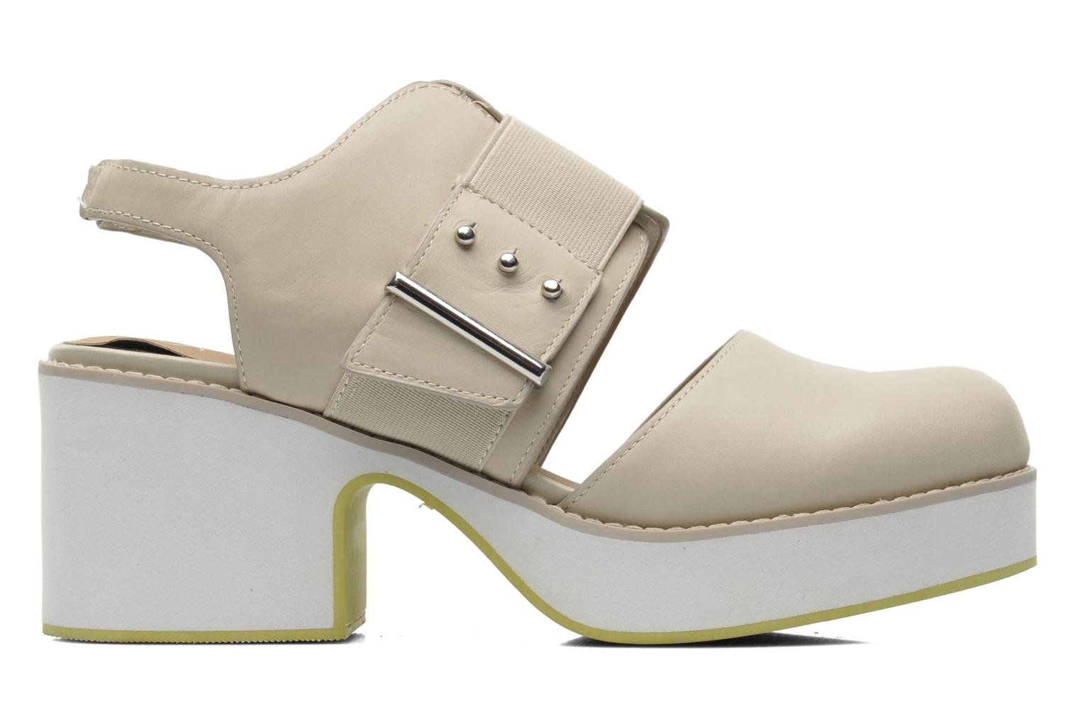 Sandals Shellys London Costain Beige back view