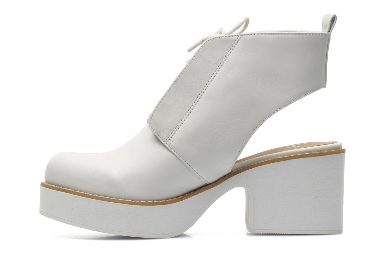 Botines  Shellys London Michellton Blanco vista de frente