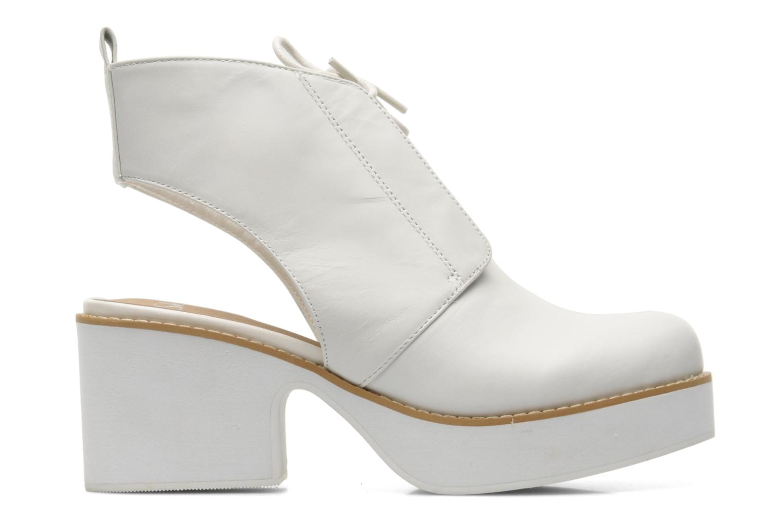 Botines  Shellys London Michellton Blanco vistra trasera