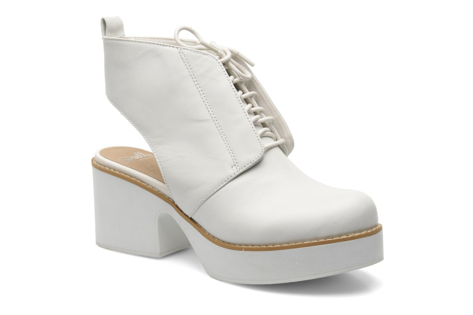 Ankle boots Shellys London Michellton White detailed view/ Pair view