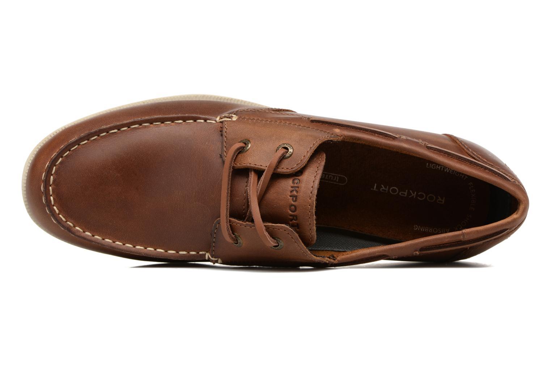 Zapatos con cordones Rockport 2-Eye Marrón vista lateral izquierda