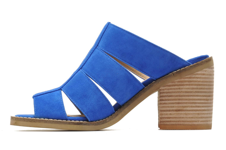 Zuecos Shellys London BARDY Azul vista de frente
