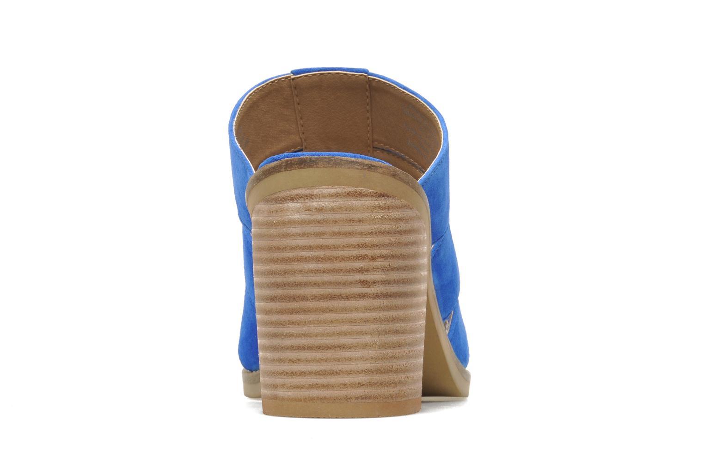 Zuecos Shellys London BARDY Azul vista lateral derecha