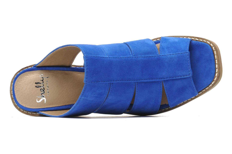 Zuecos Shellys London BARDY Azul vista lateral izquierda