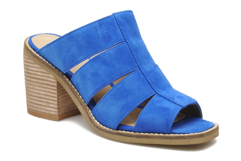 Zuecos Shellys London BARDY Azul vista de detalle / par