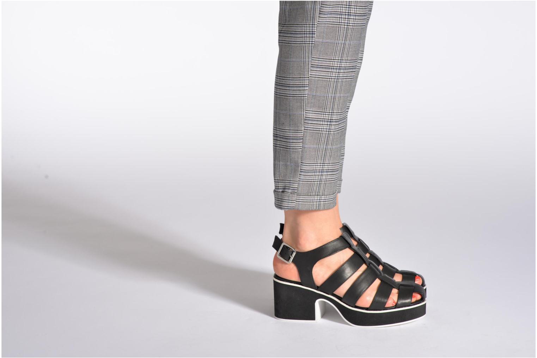 Sandalen Shellys London NYDILLA grau ansicht von unten / tasche getragen