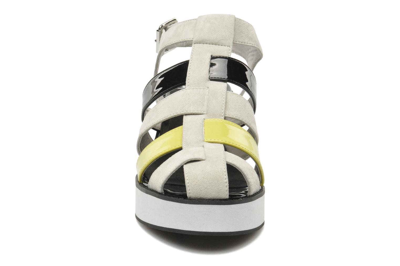 Sandalen Shellys London NYDILLA grau schuhe getragen