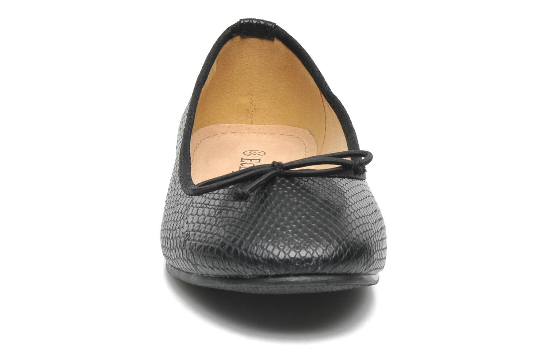 Ballerines Eclipse Ballerine Lezard Noir vue portées chaussures