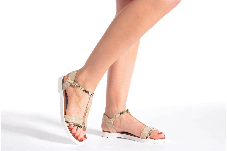 Sandales et nu-pieds Eclipse Sandale Athènes Or et bronze vue bas / vue portée sac
