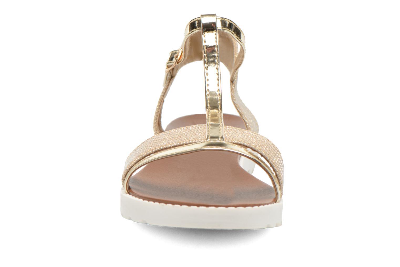 Sandales et nu-pieds Eclipse Sandale Athènes Or et bronze vue portées chaussures
