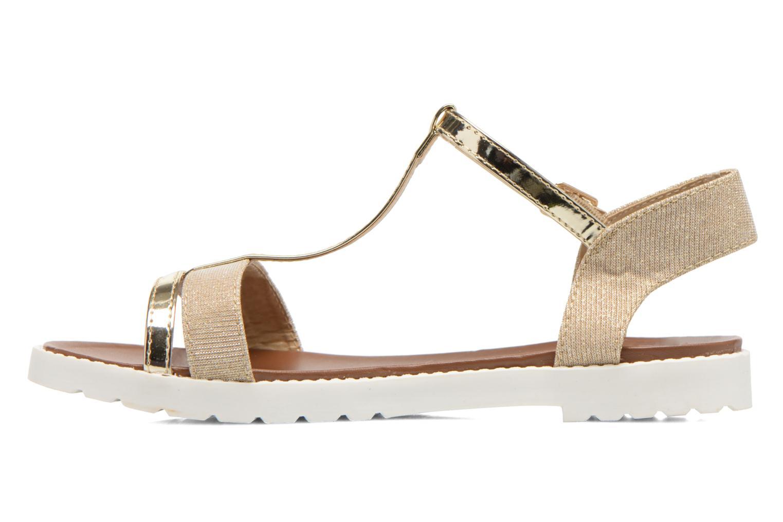 Sandales et nu-pieds Eclipse Sandale Athènes Or et bronze vue face