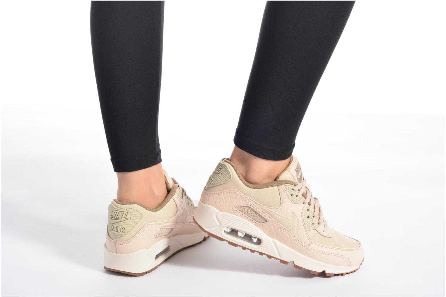 Trainers Nike Wmns Air Max 90 Prem Beige view from underneath / model view