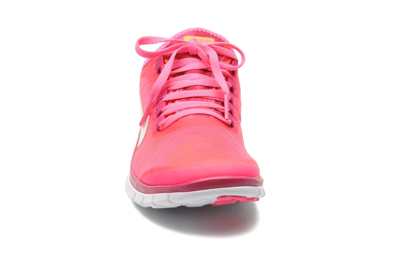 Chaussures de sport Nike Wmns Nike Free 3.0 V5 Ext Prnt Rose vue portées chaussures