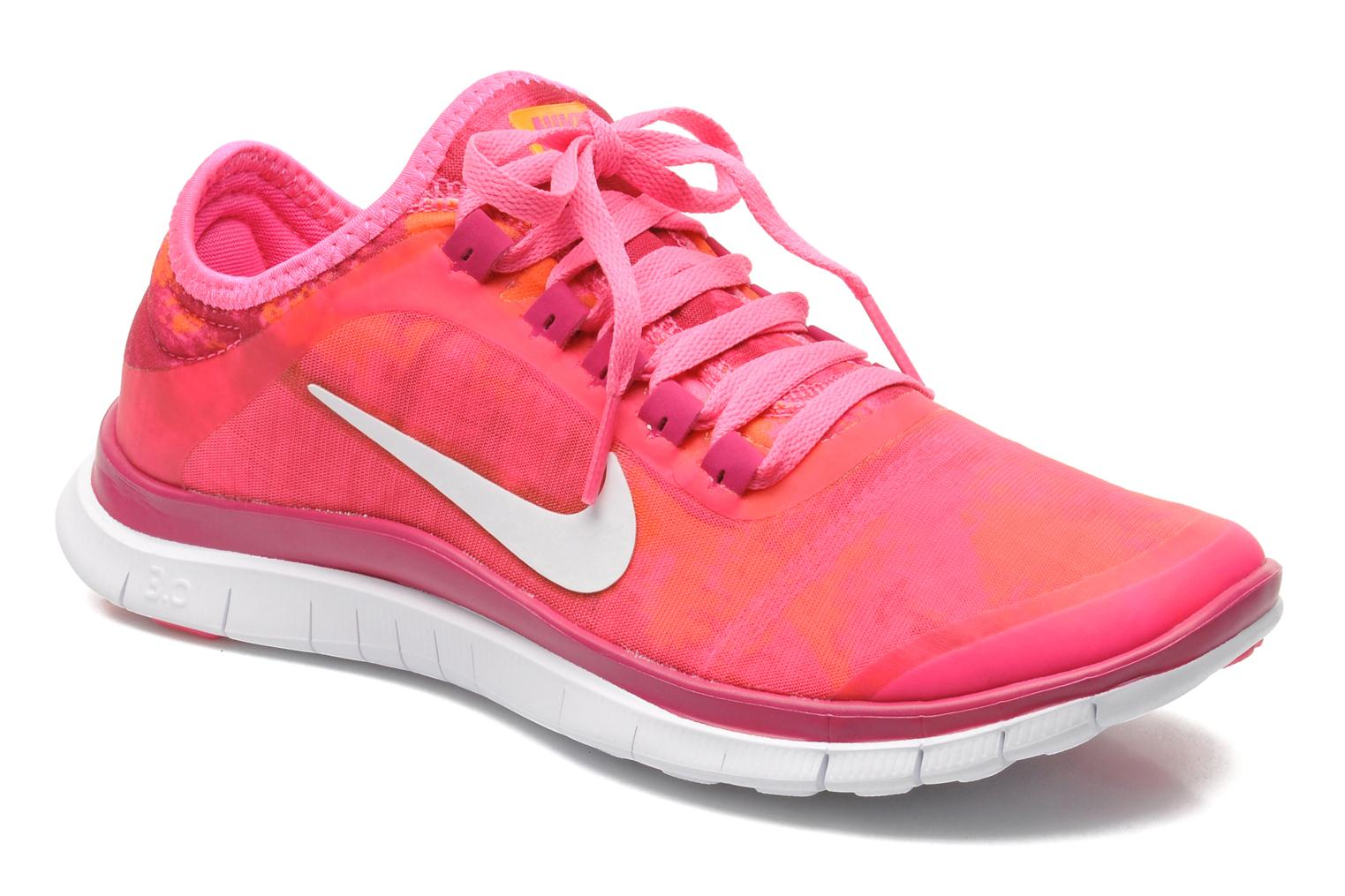 Wmns Nike Free 3.0 V5 Ext Prnt Pink Pow/White-Frbrry-Ttl Orng