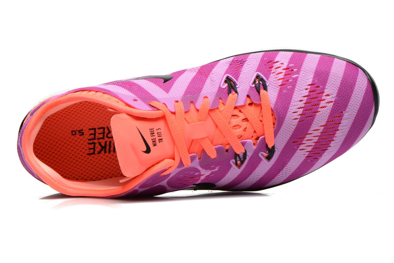Chaussures de sport Nike Wmns Nike Free 5.0 Tr Fit 5 Prt Violet vue gauche