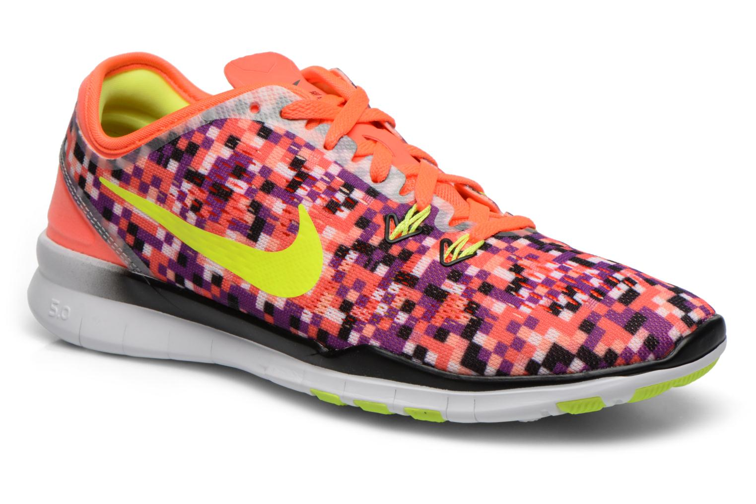 Wmns Nike Free 5.0 Tr Fit 5 Prt Hyper Orange/Black-Volt