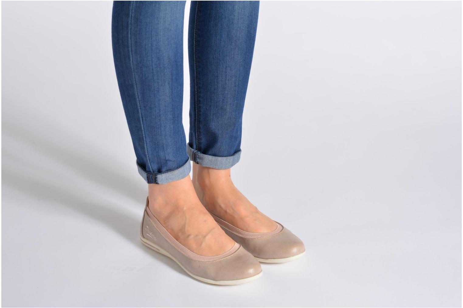 Ballet pumps Dockers Beliz Beige view from underneath / model view