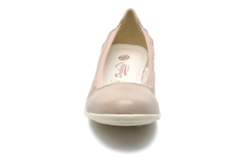 Ballerines Dockers Beliz Beige vue portées chaussures