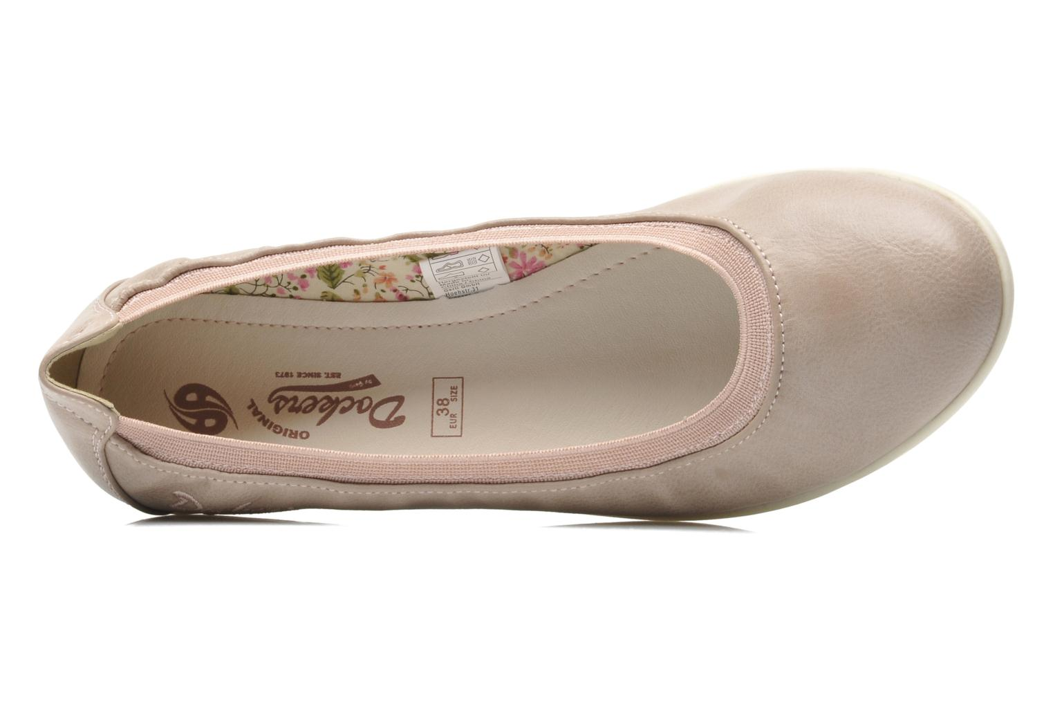 Ballet pumps Dockers Beliz Beige view from the left