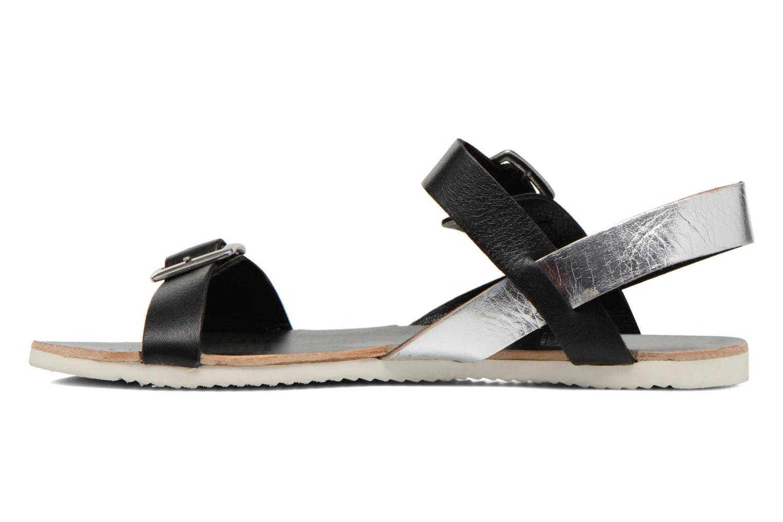 Sandales et nu-pieds No Box Maya Noir vue face