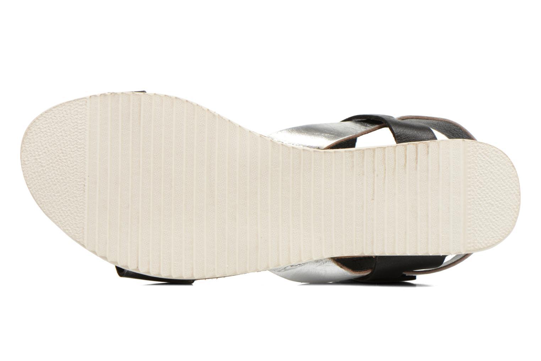 Sandales et nu-pieds No Box Maya Noir vue haut