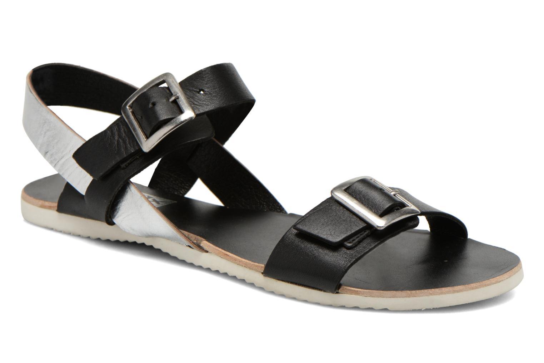 Sandales et nu-pieds No Box Maya Noir vue détail/paire
