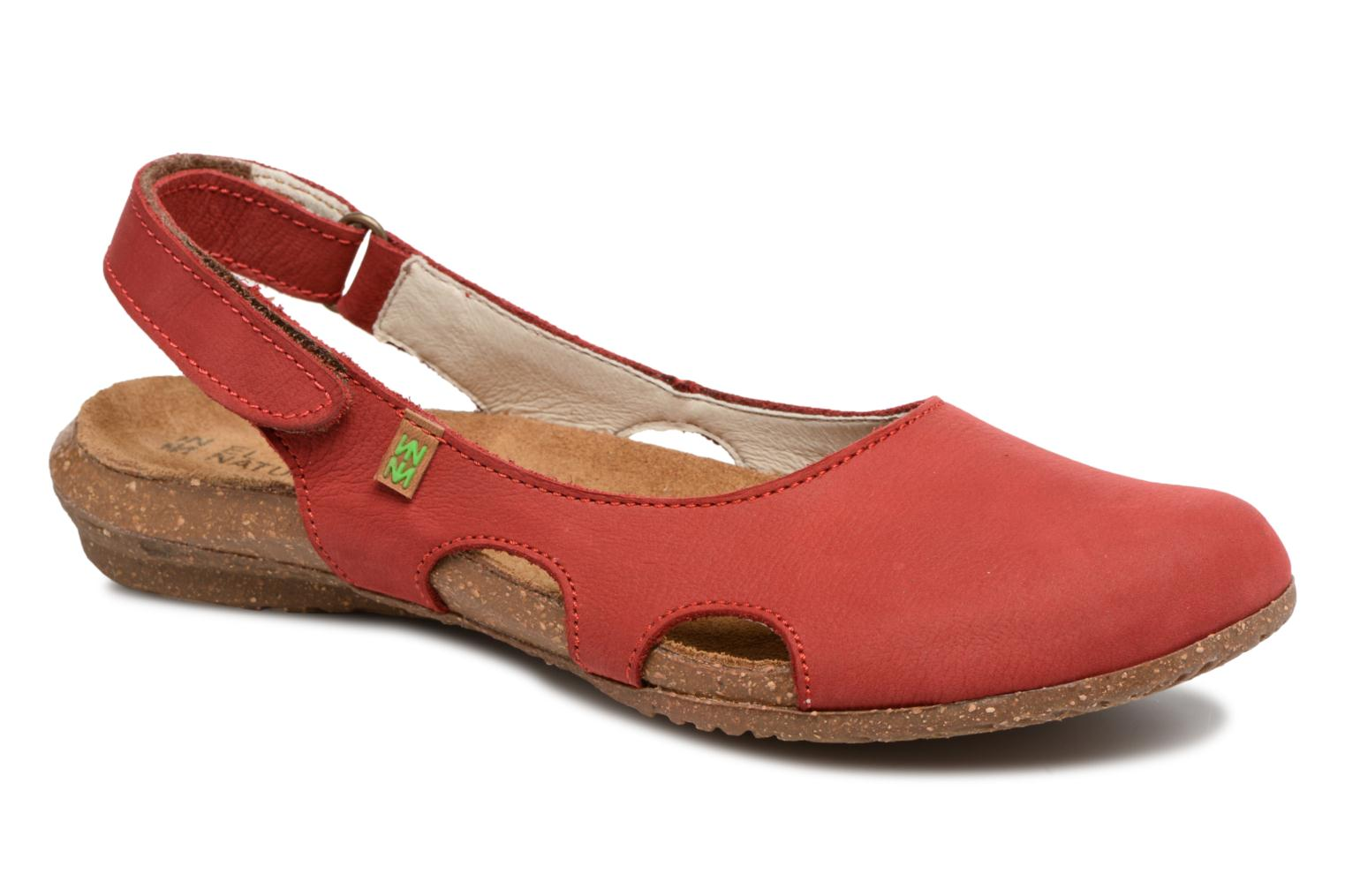 Mules & clogs El Naturalista Wakataua N413 Red detailed view/ Pair view