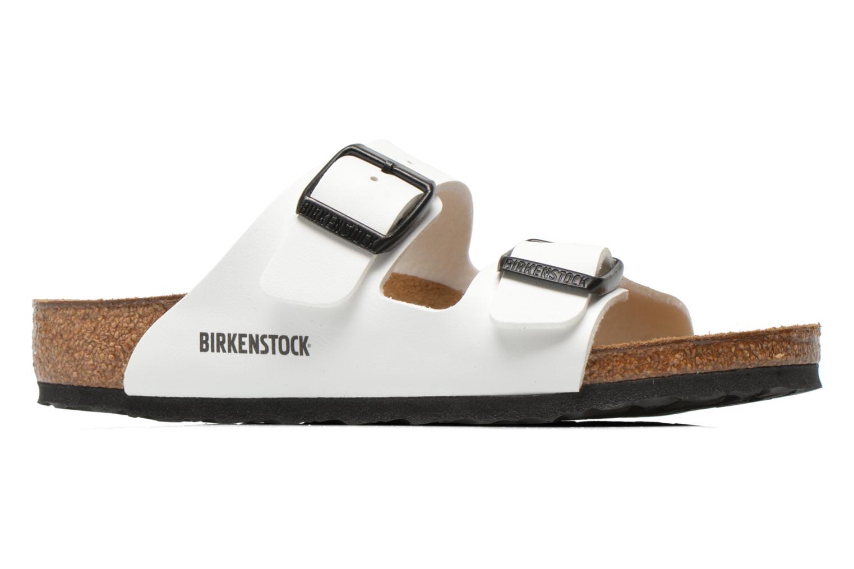 Sandalen Birkenstock Arizona Birko-Flor weiß ansicht von hinten