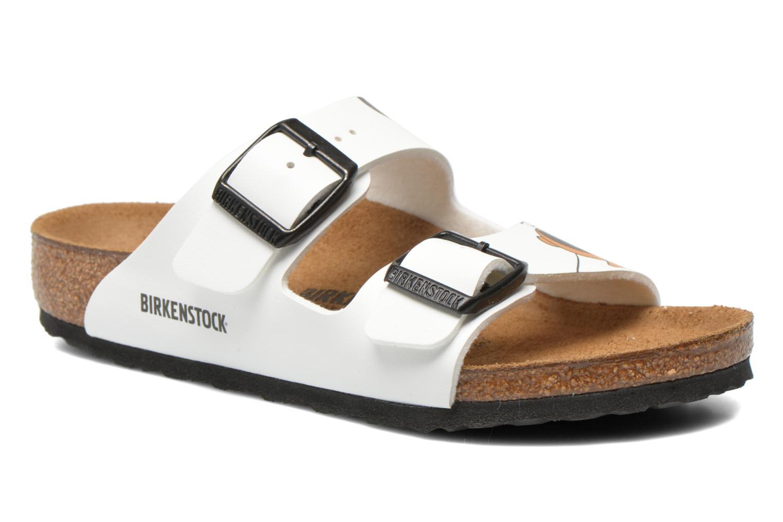 Sandalen Birkenstock Arizona Birko-Flor weiß detaillierte ansicht/modell